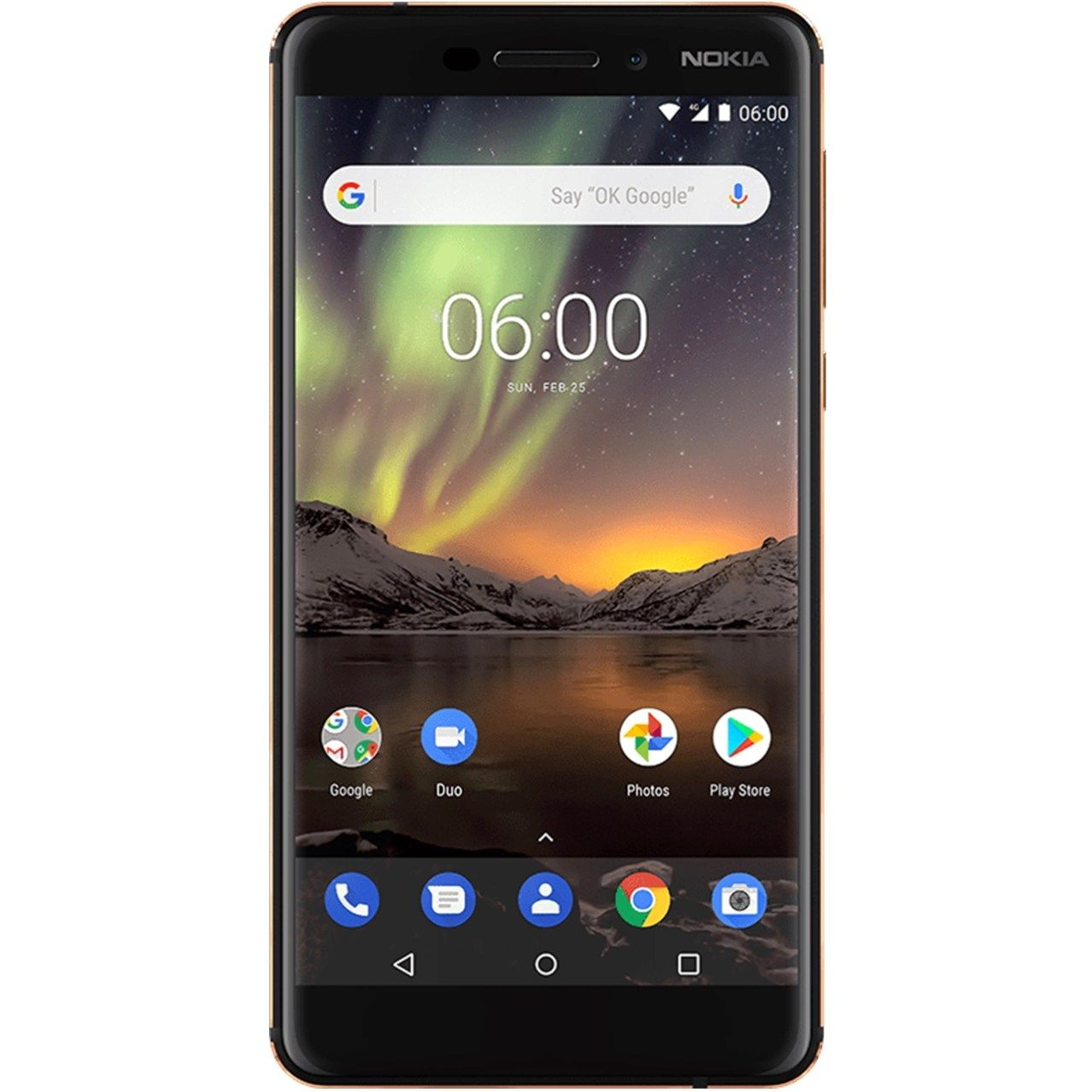 Telefon mobil Nokia 6.1 (2018), Single SIM, 32GB, 3GB RAM, Black Copper