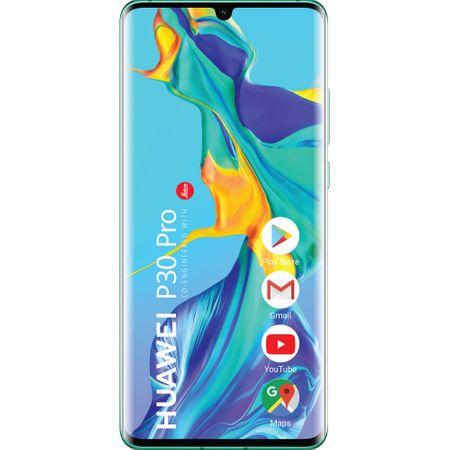 Telefon mobil Huawei P30 Pro, Dual SIM, 256GB, 8GB RAM, 4G, Aurora Blue
