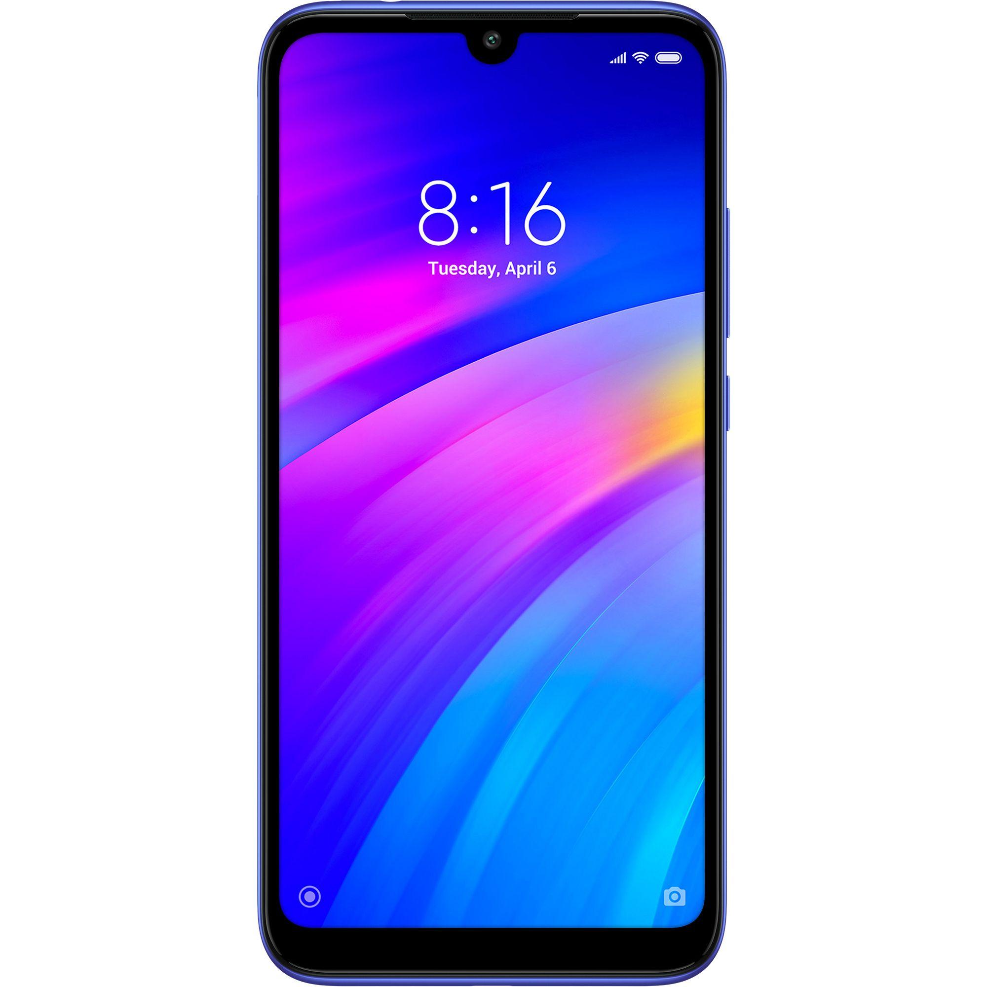 Telefon Mobil Xiaomi Redmi 7, Dual Sim, 32GB, 3GB RAM, 4G, Blue