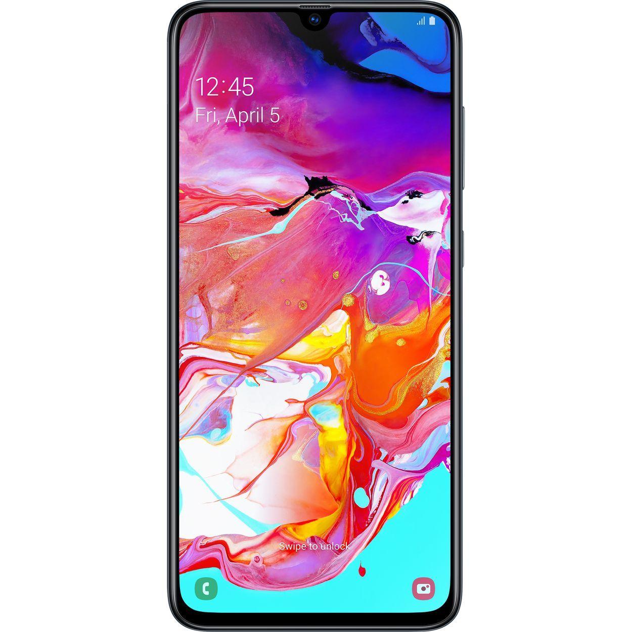 Telefon mobil Samsung Galaxy A70 A705, Dual SIM, 128GB, 6GB RAM, 4G, Black