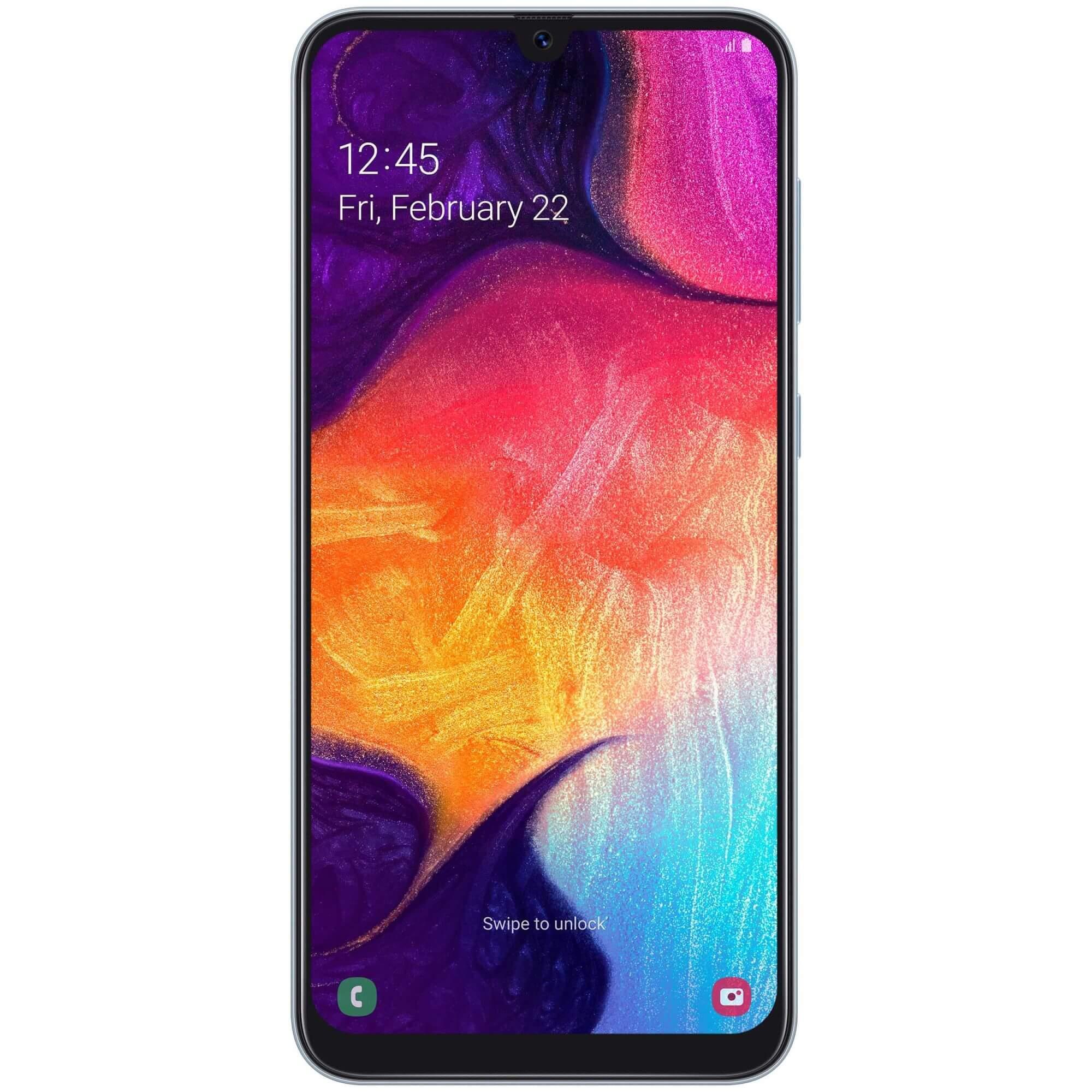Telefon mobil Samsung Galaxy A50, Dual SIM, 128GB, 4GB RAM, 4G, White