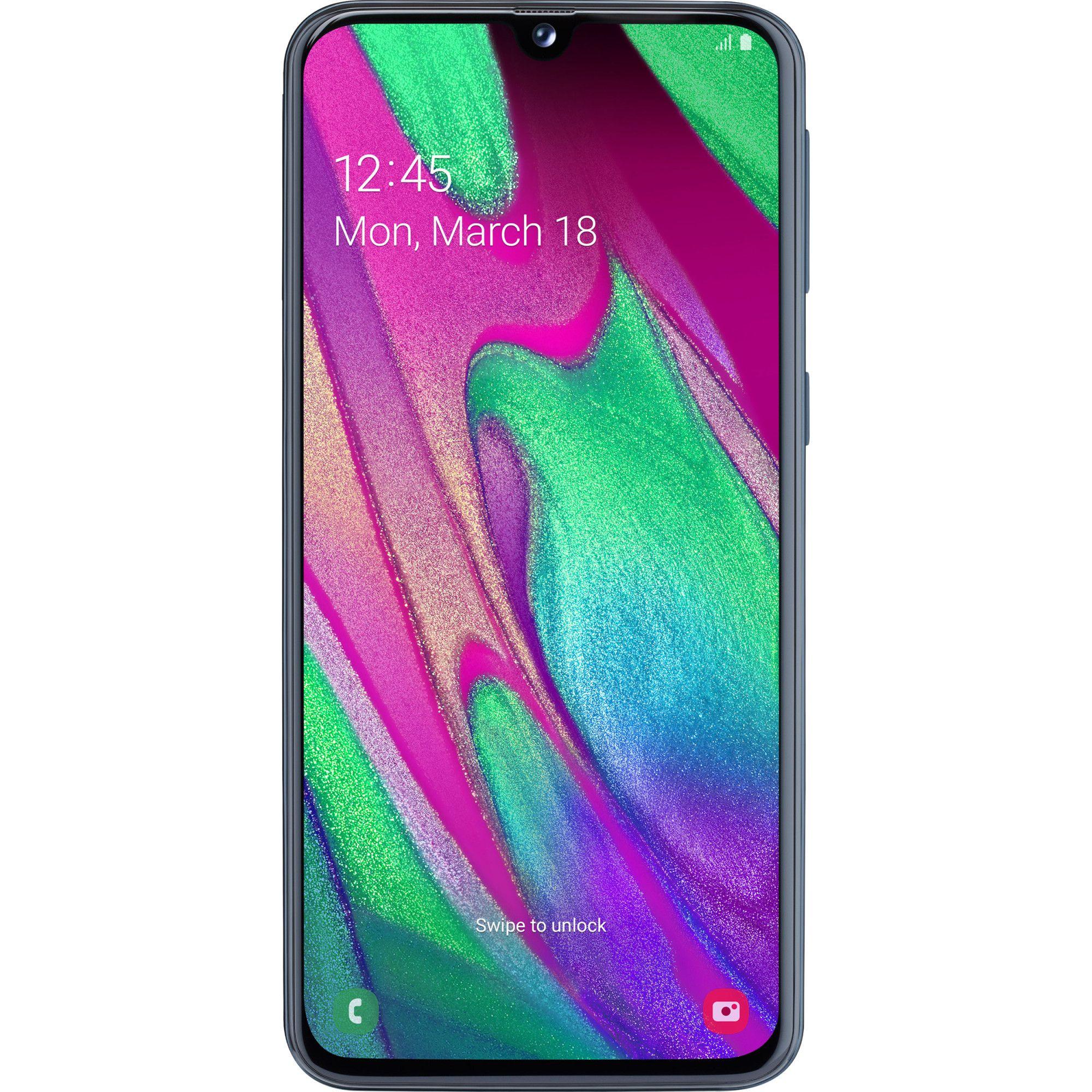 Telefon mobil Samsung Galaxy A40, Dual SIM, 64GB, 4GB RAM, 4G, Black