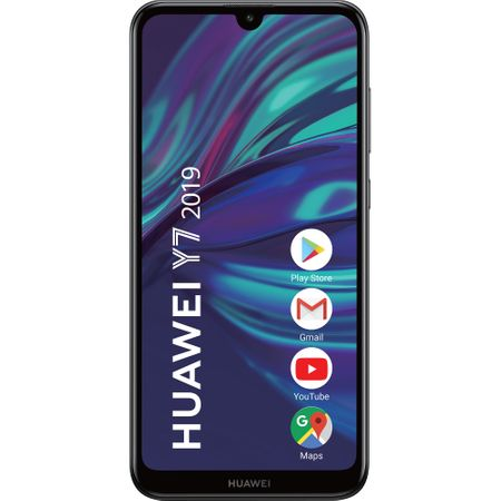 Telefon mobil Huawei Y7 (2019), Single SIM, 32GB, 3GB RAM, 4G, Midnight Black
