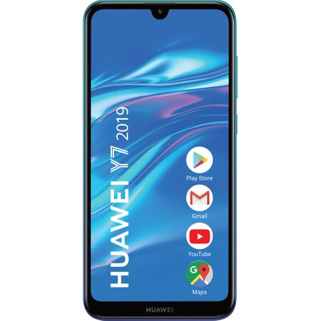 Telefon mobil Huawei Y7 (2019), Single SIM, 32GB, 3GB RAM, Aurora Blue