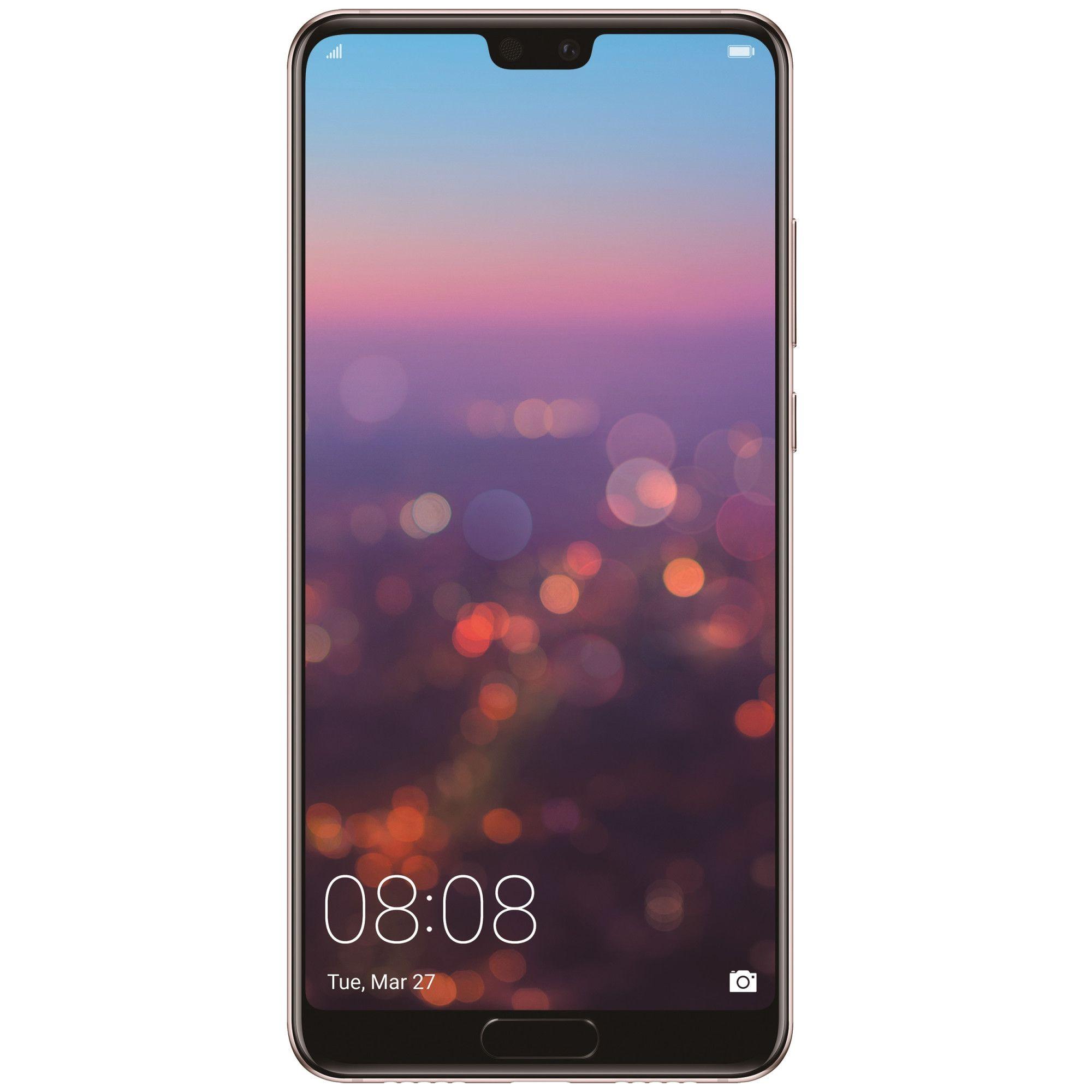 Telefon mobil Huawei P20, Single SIM, 128GB, 4GB RAM, Pink