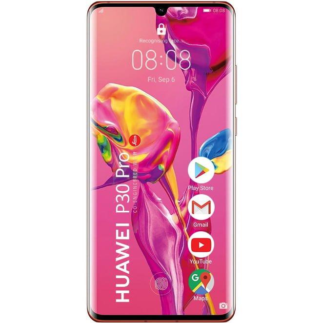 Telefon mobil Huawei P30 Pro, Dual SIM, 256GB, 8GB RAM, 4G, Amber Sunrise