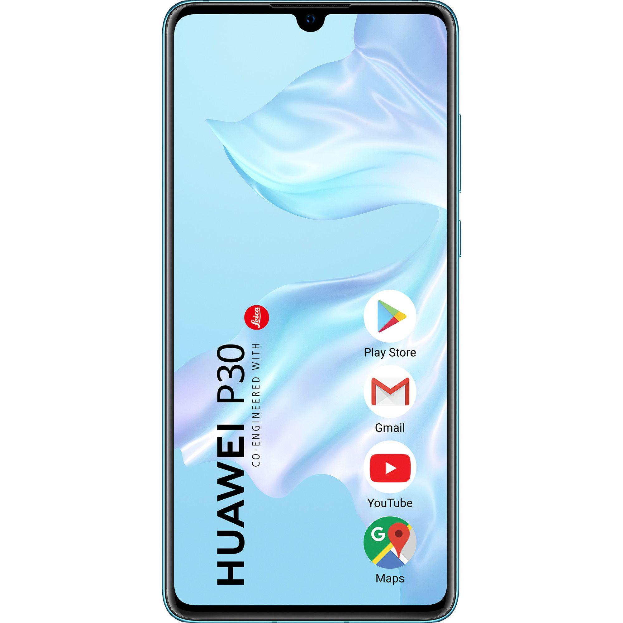 Telefon mobil Huawei P30, Single SIM, 128GB, 4GB RAM, 4G, Breathing Crystal