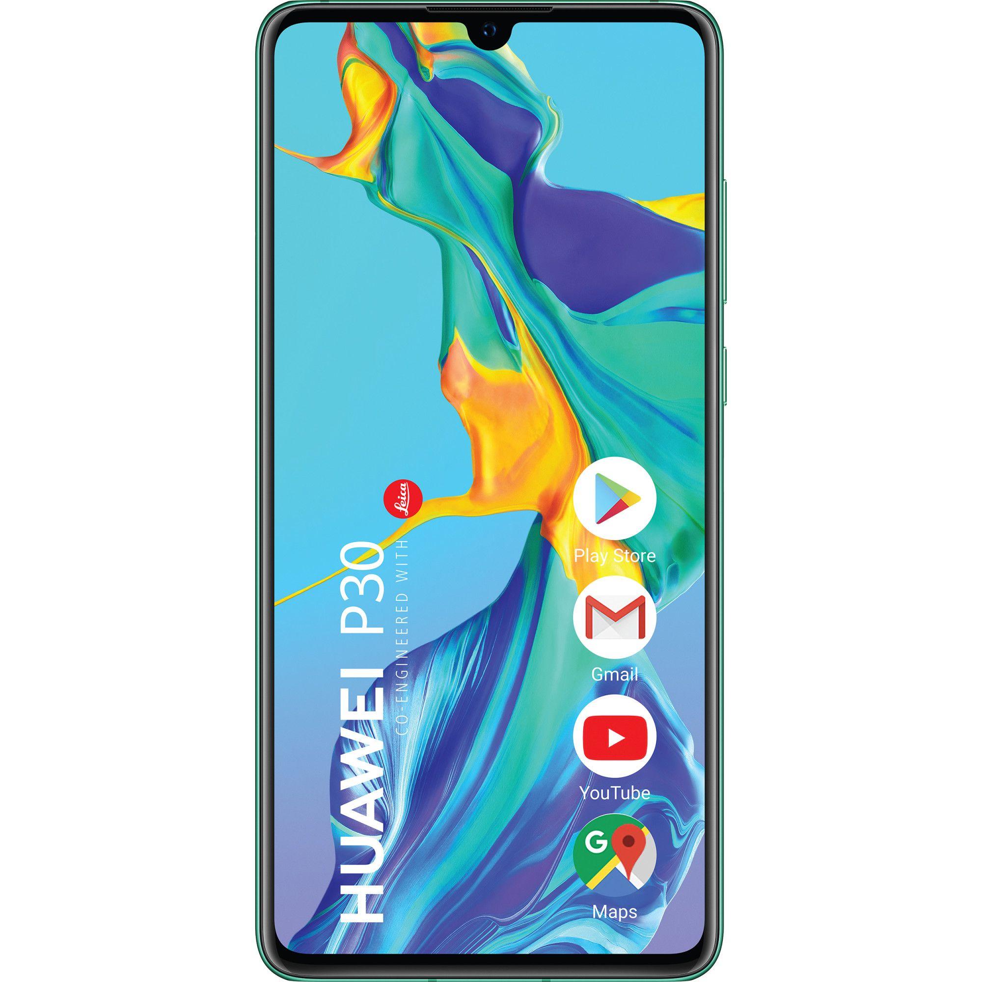 Telefon mobil Huawei P30, Single SIM, 128GB, 6GB RAM, 4G, Aurora Blue