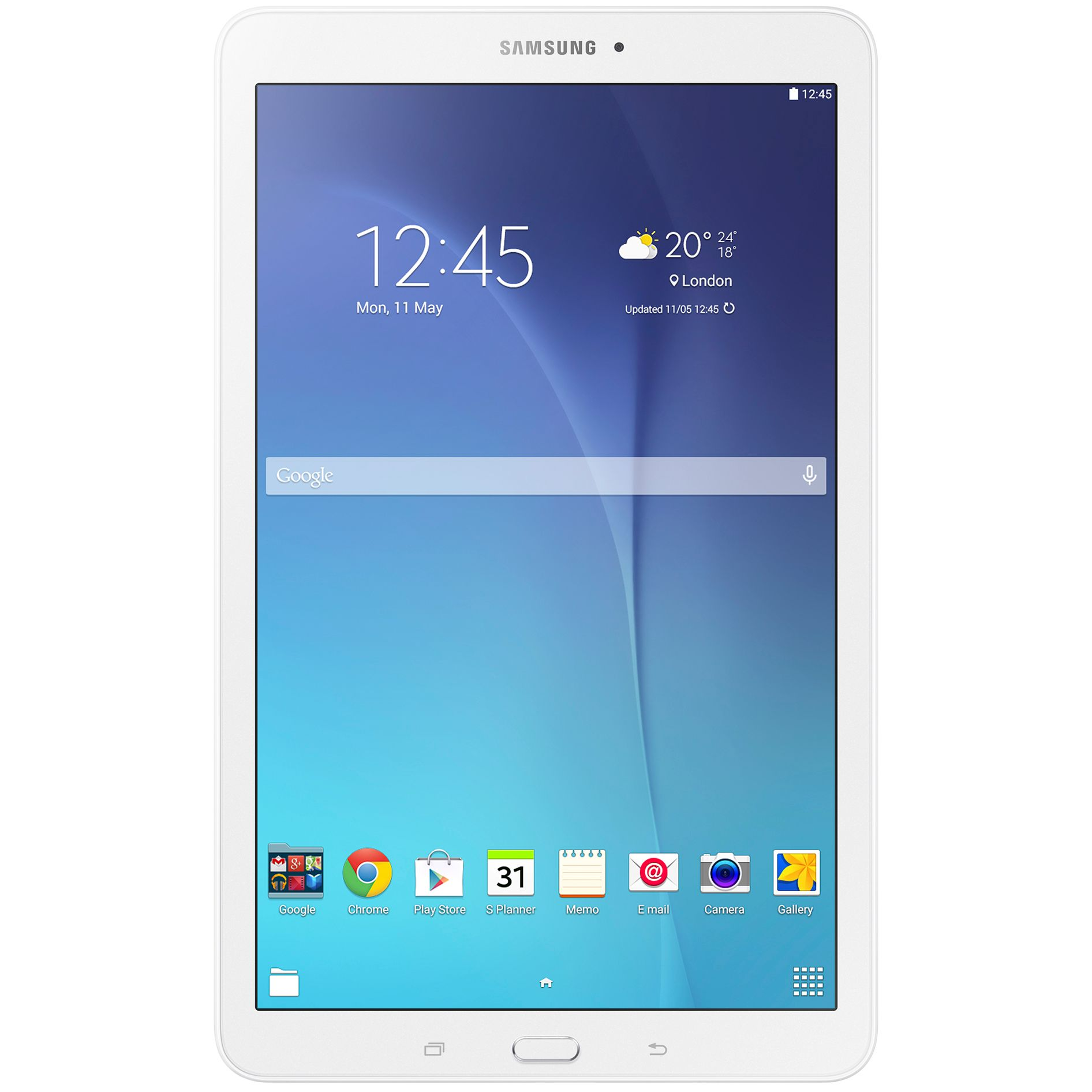 "Tableta Samsung Galaxy Tab E T561, Quad-Core, 9.6"", 1.5GB RAM, 8GB, 3G, White"
