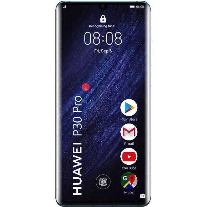 Telefon mobil Huawei P30 Pro, Single SIM, 128GB, 8GB RAM, 4G, Mystic Blue