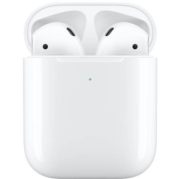 Casti In-Ear, Apple AirPods 2, MRXJ2ZM, True Wireless Bluetooth, Carcasa cu incarcare wireless, White