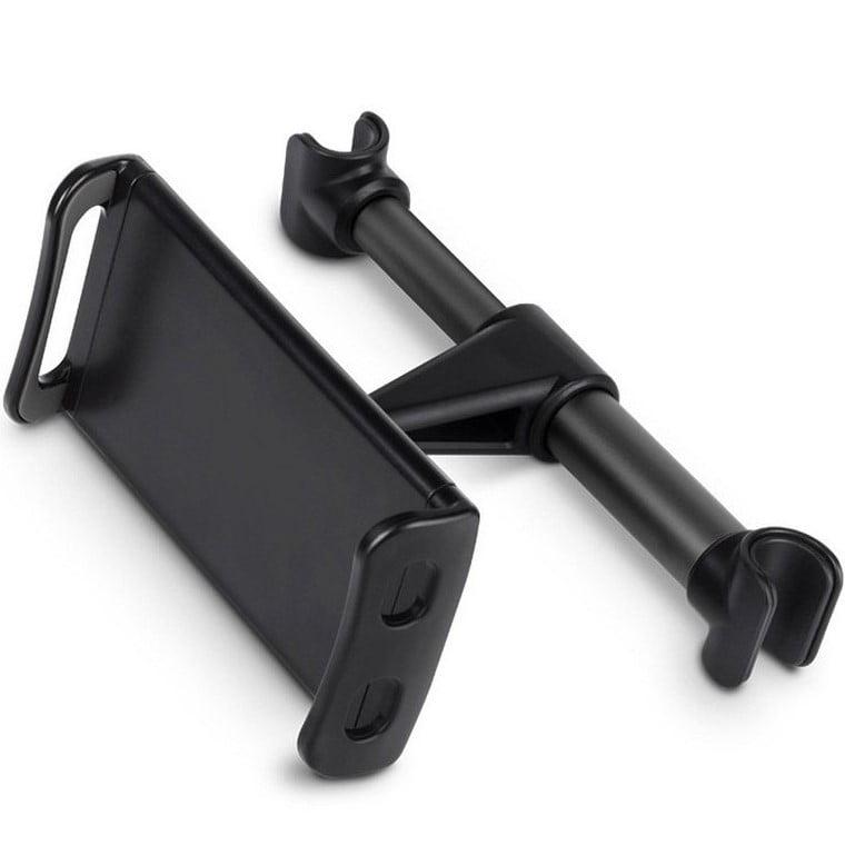 Suport auto universal tetiera pentru tableta 12-20 inch, Prindere cu clema, Black