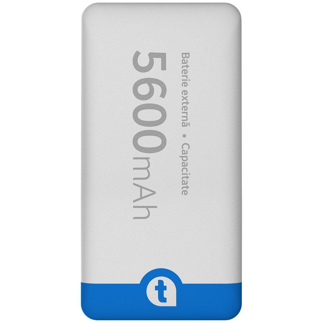 Baterie Externa (Powerbank) telefonultau, 5600 mAh, White