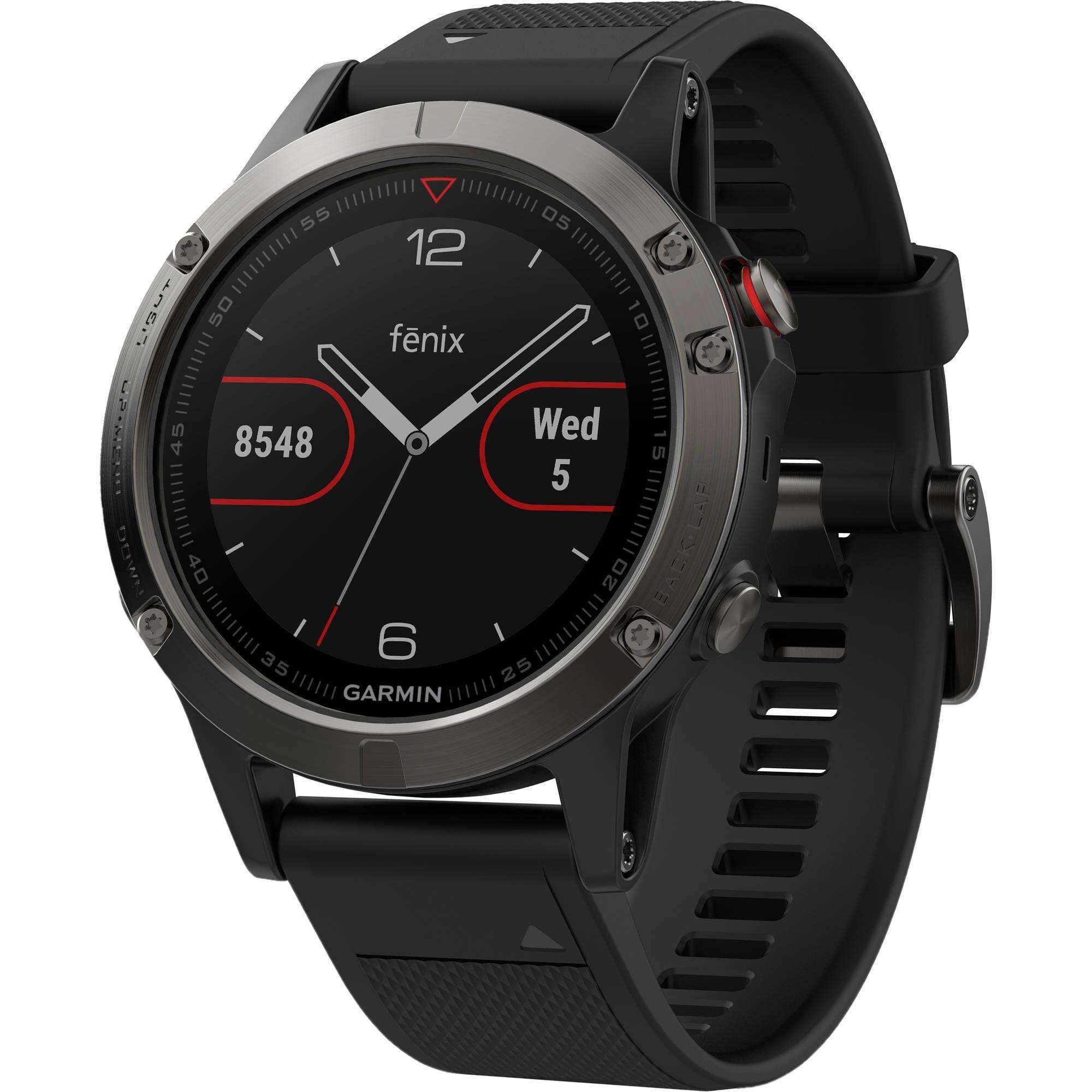 Ceas Smartwatch Garmin Fenix 5, GPS, HR, 47mm, Slate Gray