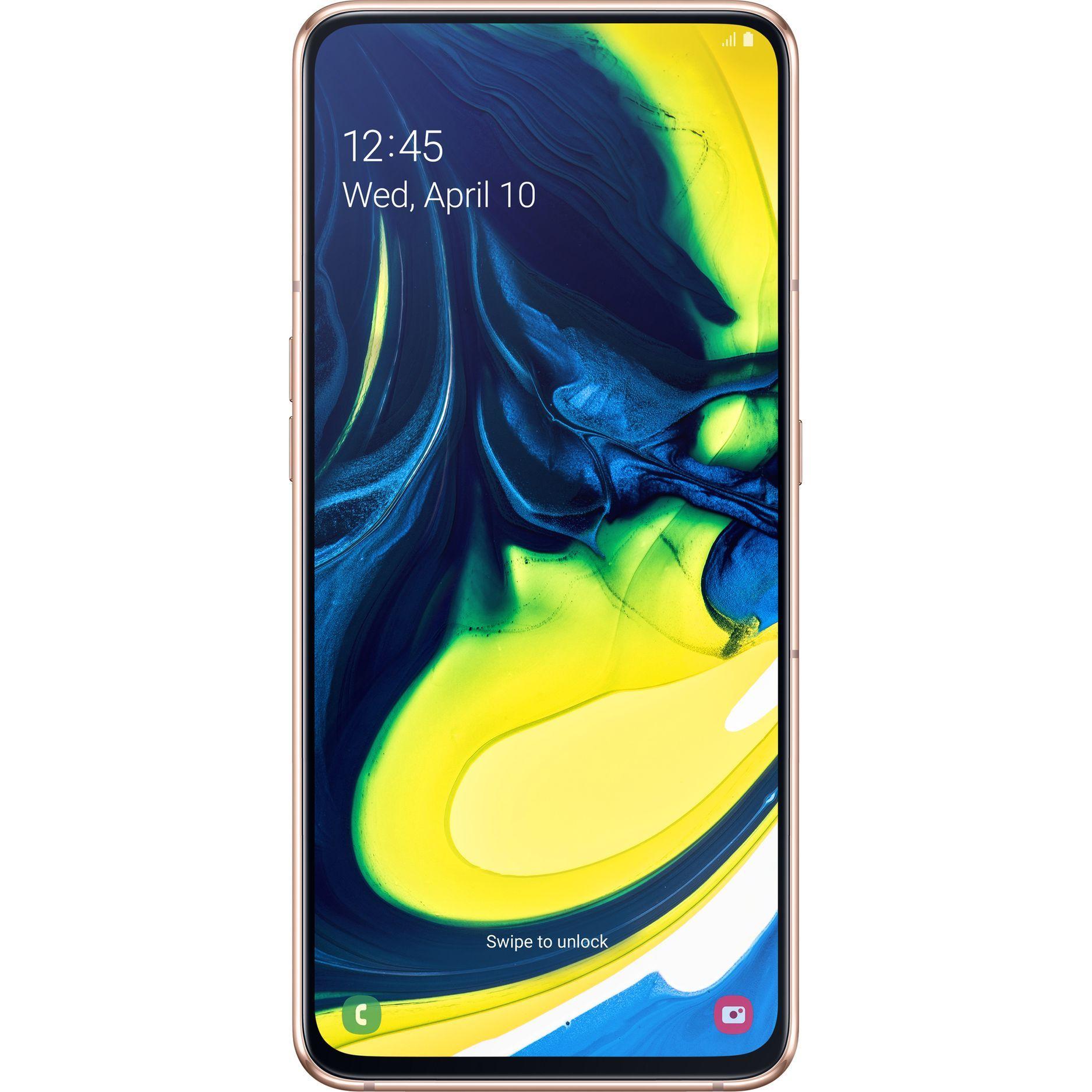 Telefon mobil Samsung Galaxy A80, A805, Dual SIM, 128GB, 8GB RAM, 4G, Angel Gold