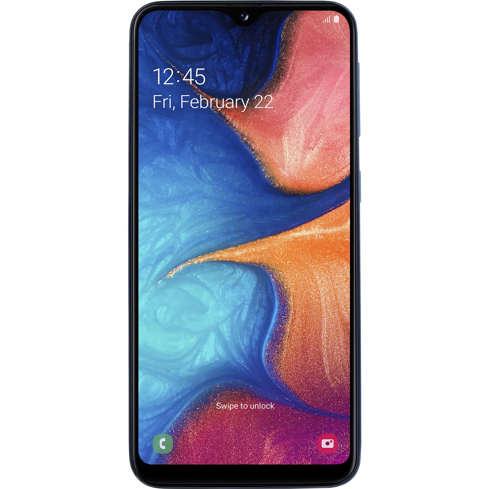 Telefon mobil Samsung Galaxy A20e, A202, Dual SIM, 32GB, 3GB RAM, 4G, Blue