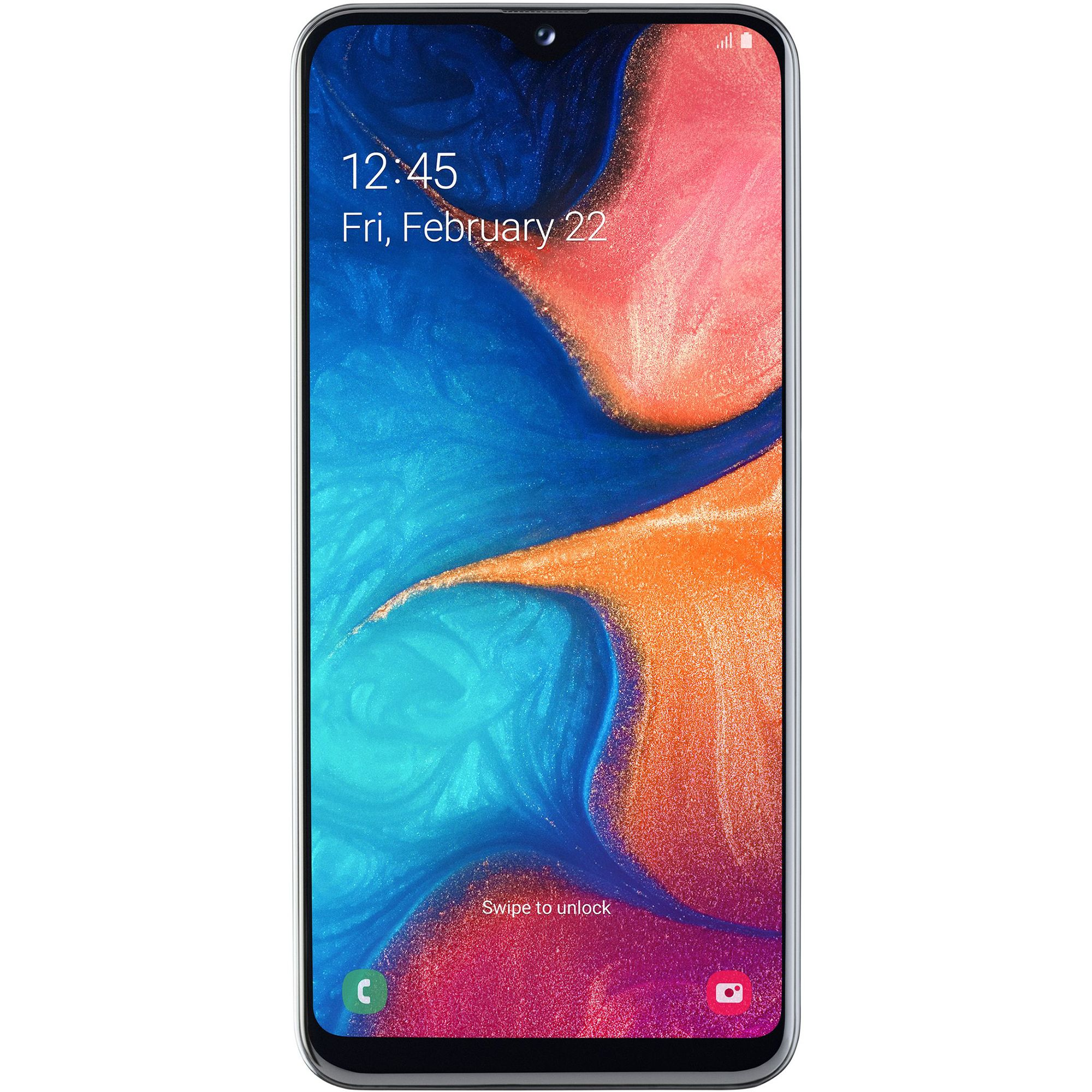 Telefon mobil Samsung Galaxy A20e, A202, Dual SIM, 32GB, 3GB RAM, 4G, White