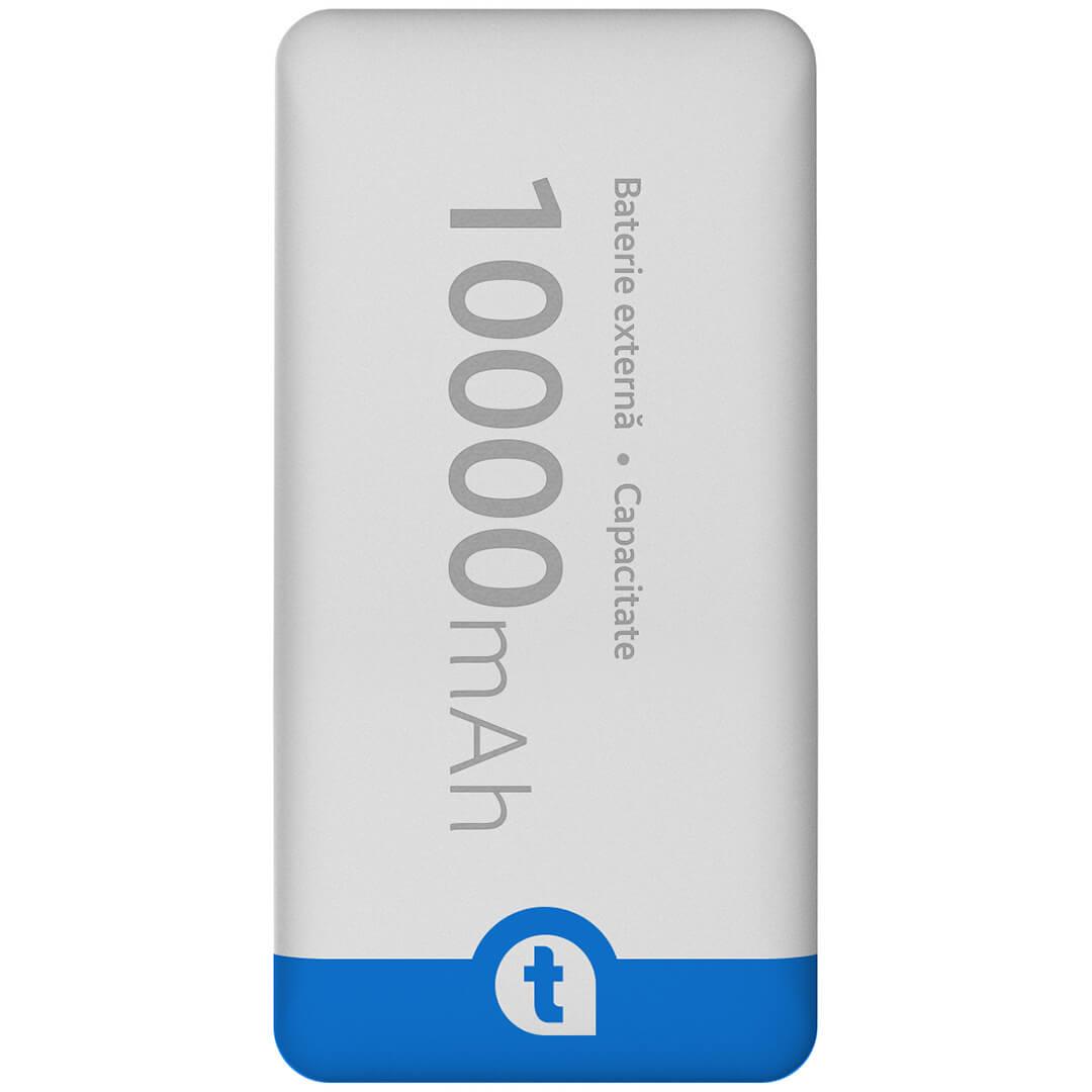 Baterie Externa (Powerbank) telefonultau, 10000 mAh, White