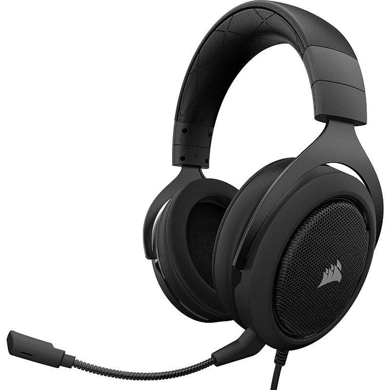 Casti audio Over-Ear Corsair HS50, Stereo, Carbon