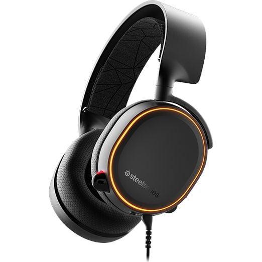 Casti audio Over-Ear SteelSeries Arctis 5, Gaming, RGB, Black