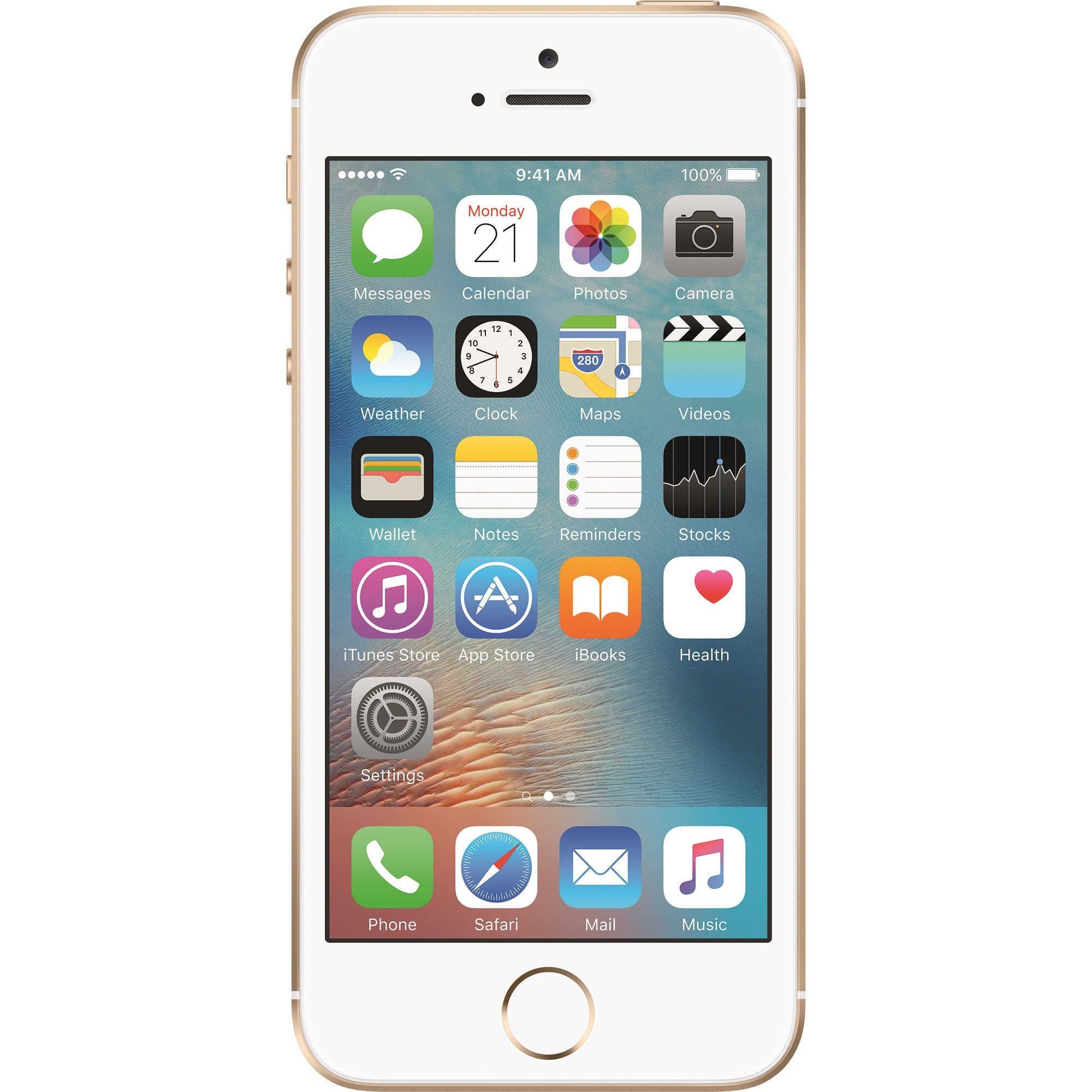Telefon mobil Apple iPhone SE, 128GB, 2GB RAM, 4G, Gold