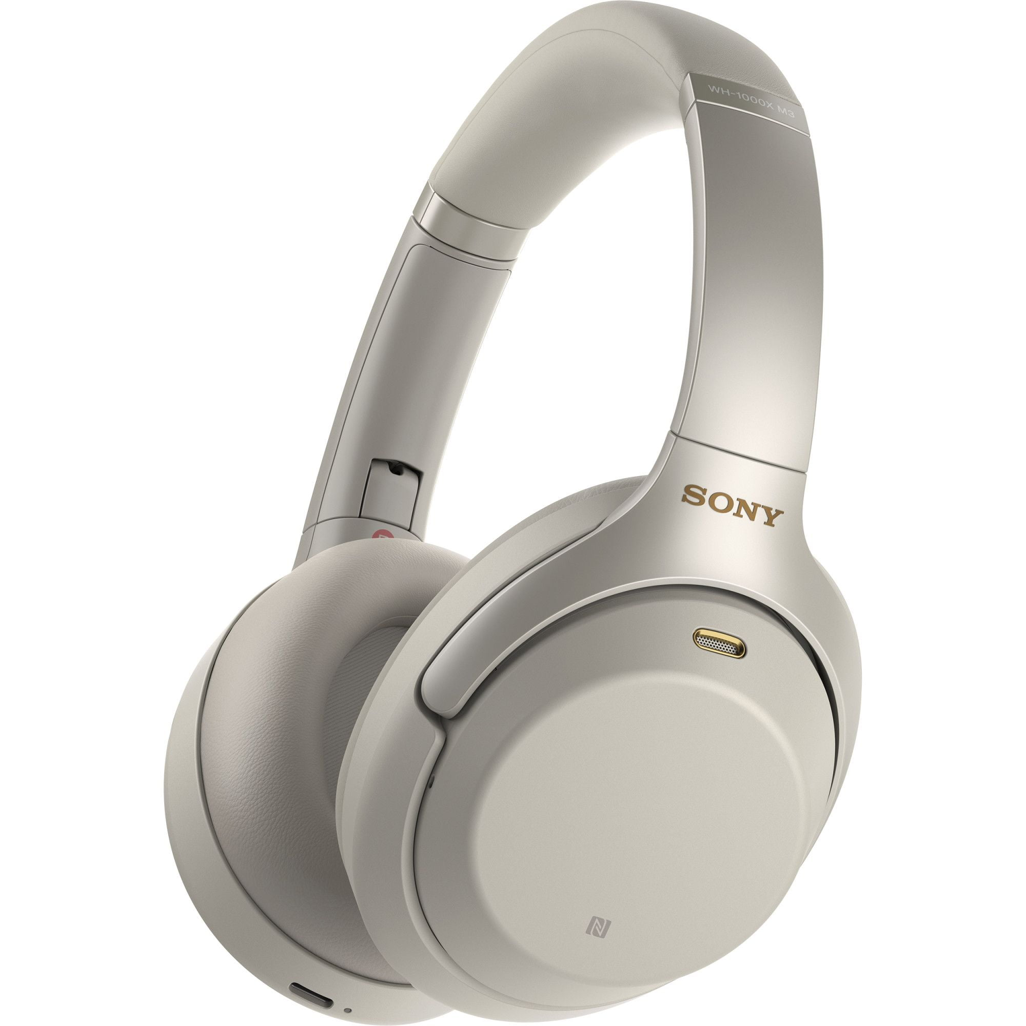 Casti audio Over-Ear SONY WH-1000XM4, Bluetooth, NFC, Microfon, Noise Cancelling, Silver