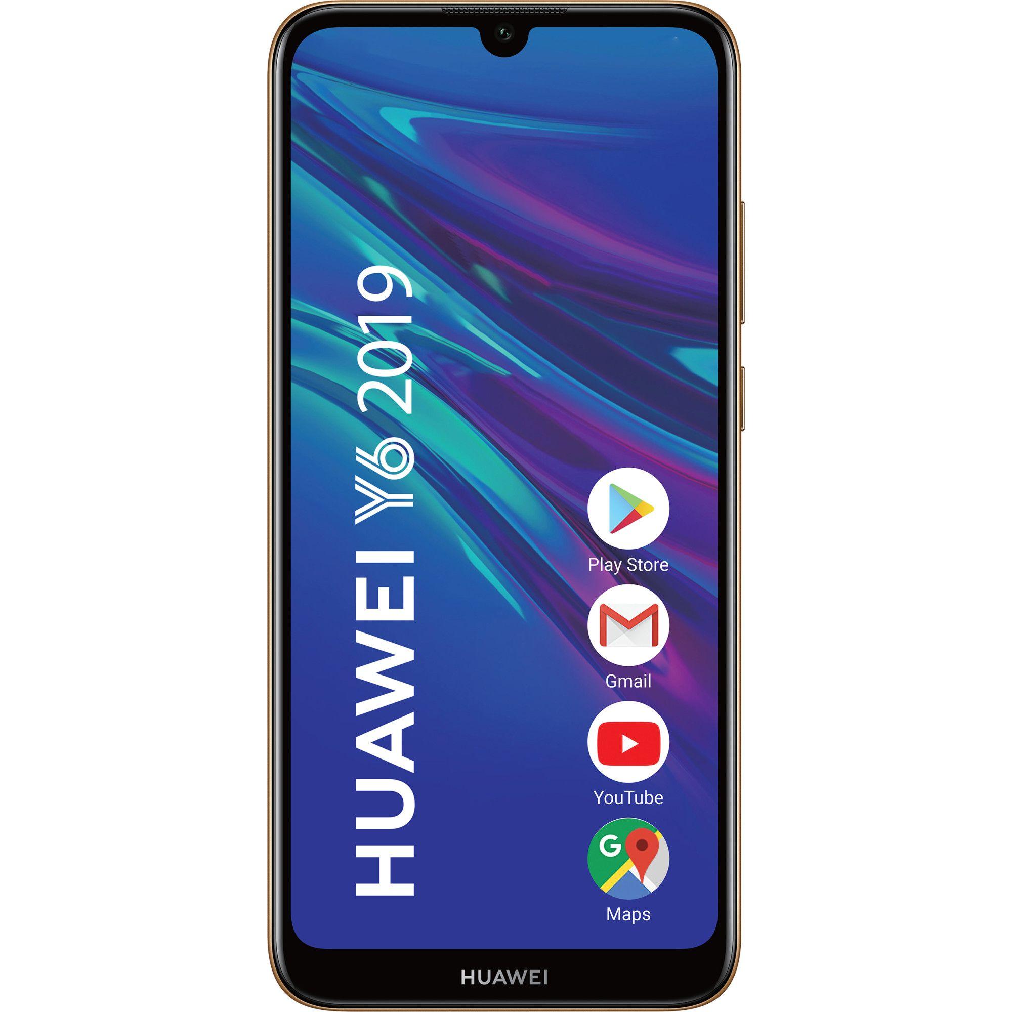 Telefon mobil Huawei Y6 (2019), Dual SIM, 32GB, 2GB RAM, 4G, Amber Brown