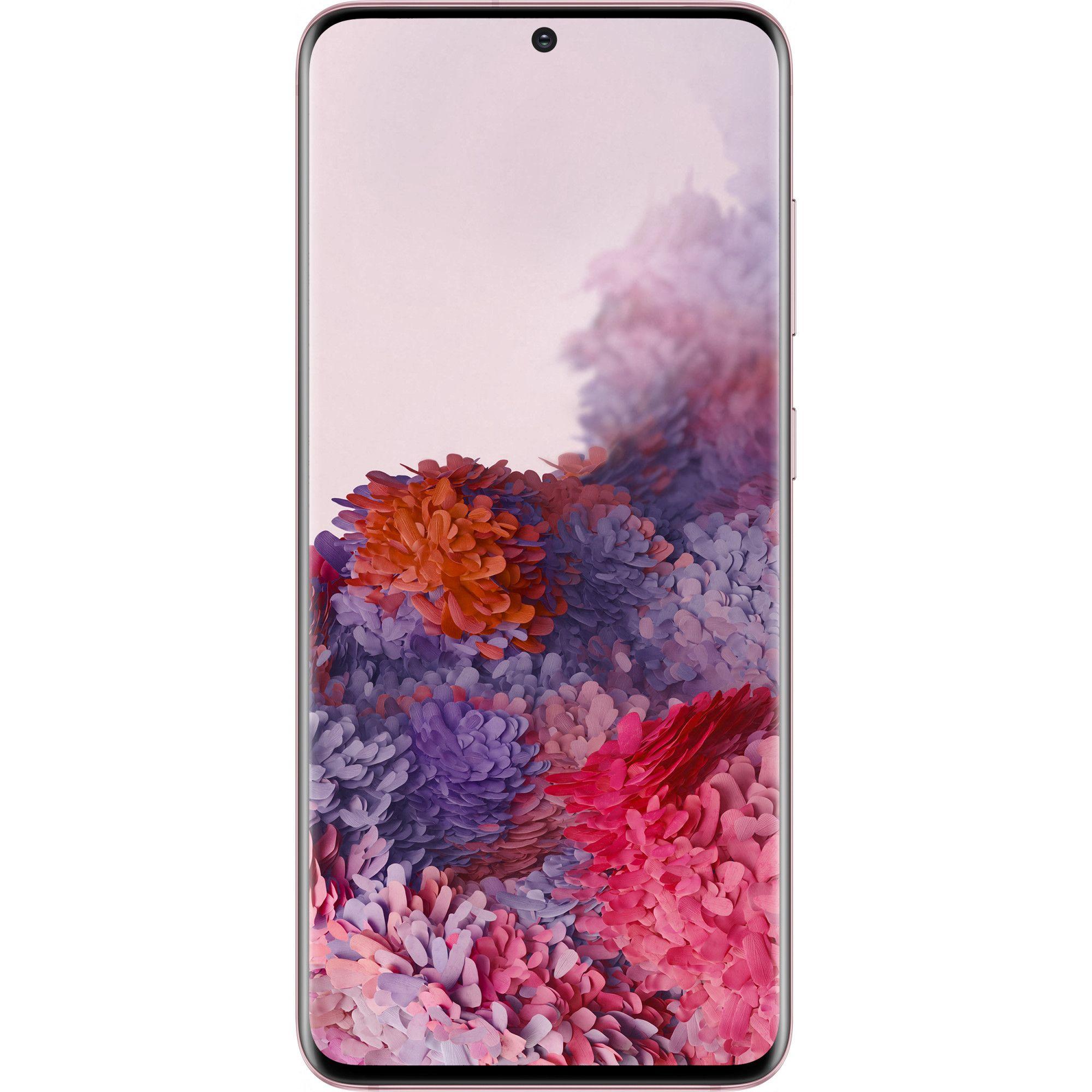 Telefon mobil Samsung Galaxy S20, Dual SIM, 128GB, 8GB RAM, 4G, Cloud Pink