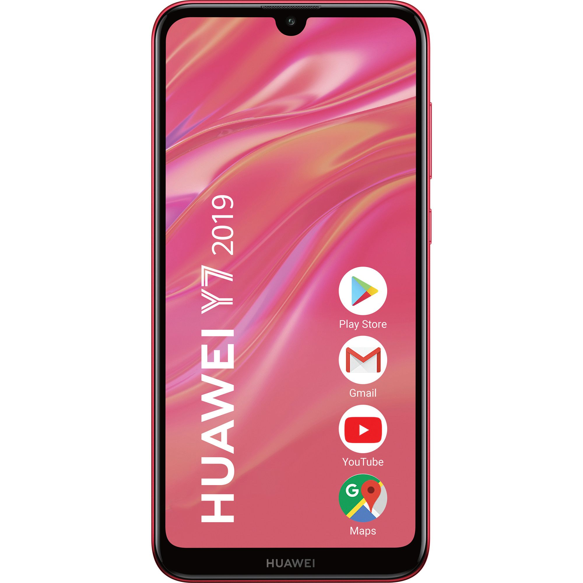 Telefon mobil Huawei Y7 (2019), Single SIM, 32GB, 3GB RAM, 4G, Coral Red