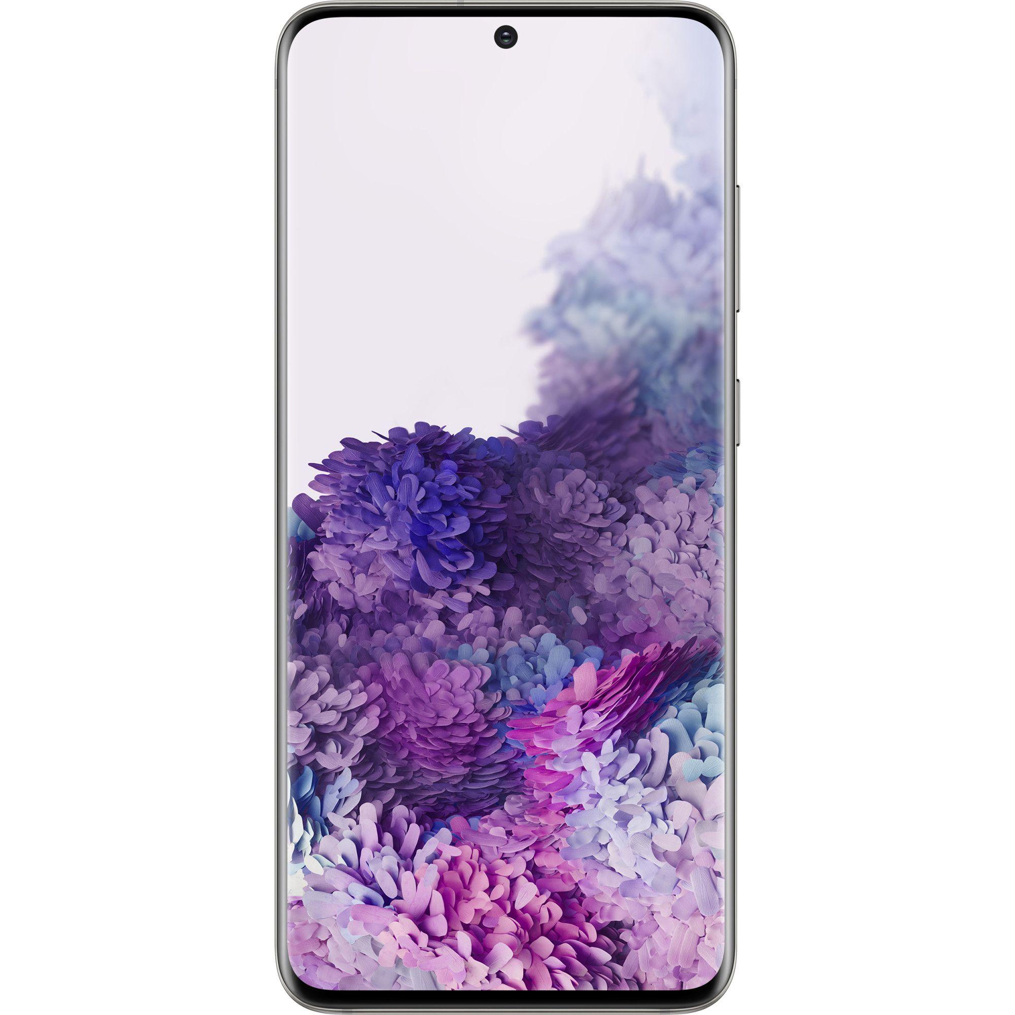 Telefon mobil Samsung Galaxy S20, Dual SIM, 128GB, 12GB RAM, 5G, Cloud White