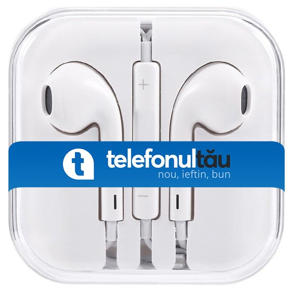 Casti In-Ear Mega Bass cu microfon, Jack 3.5mm, White