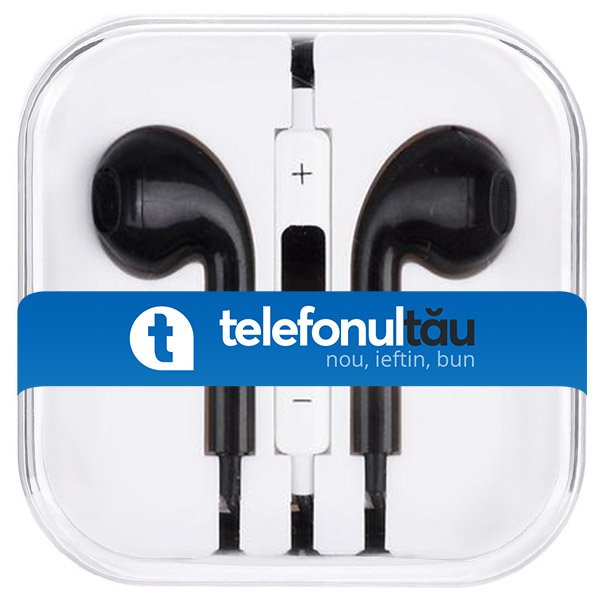 Casti In-Ear Mega Bass cu microfon, Jack 3.5mm, Black