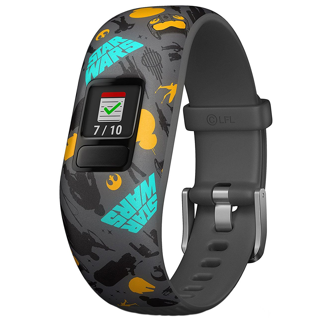 Bratara fitness Garmin Vivofit Jr. 2, Silicon, Bratara reglabila, Star Wars, Grey