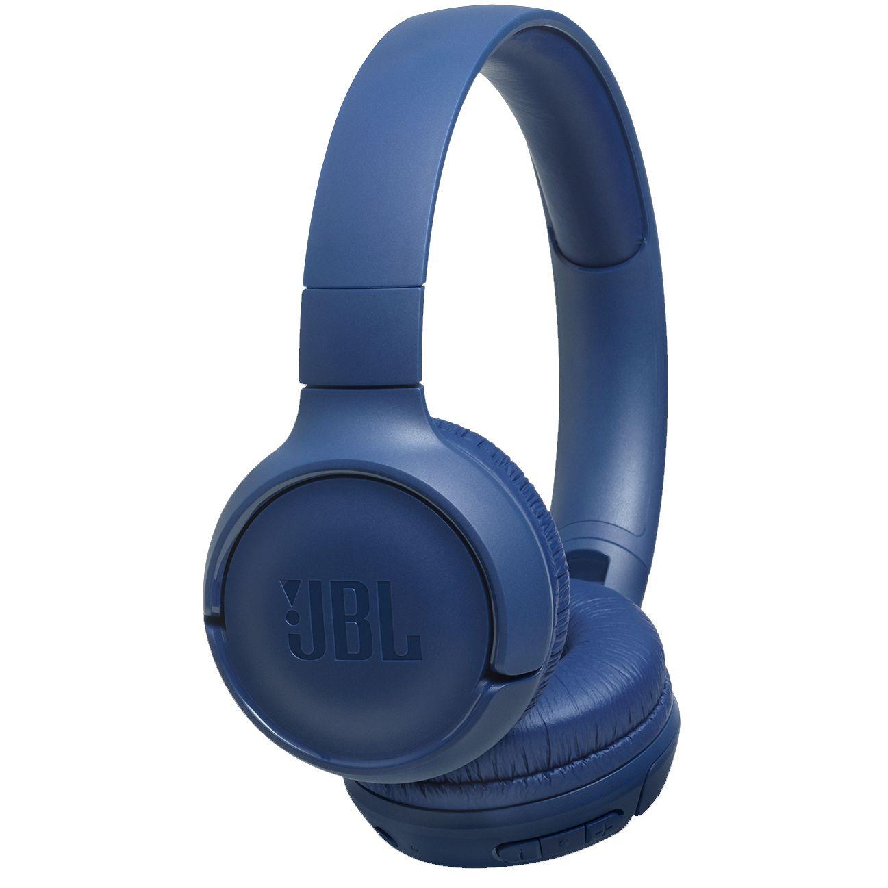Casti audio On-Ear JBL Tune 500BT, Wireless, Bluetooth, Pure Bass Sound, Hands-free Call, 16H, Blue