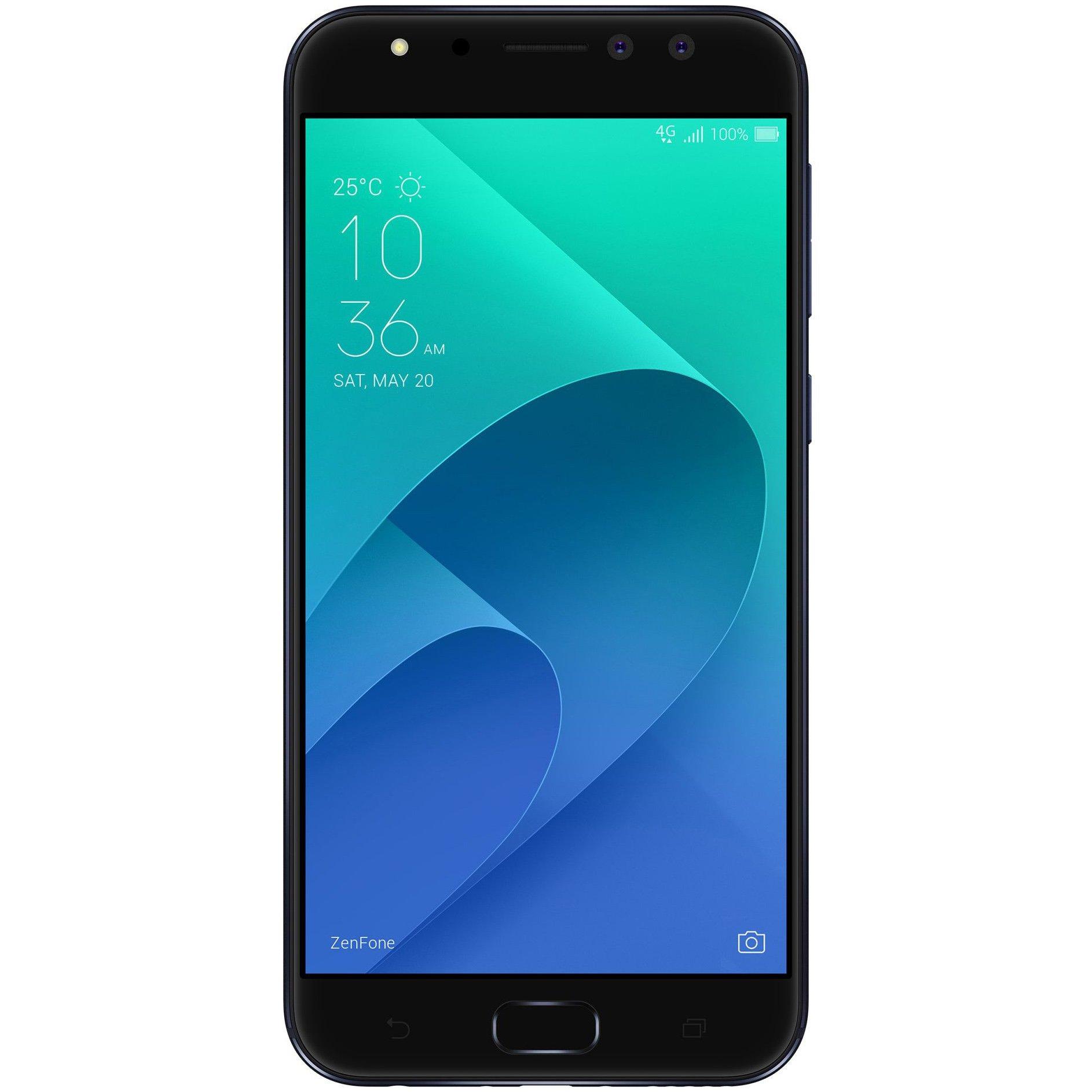 Telefon mobil Asus Zenfone 4 Selfie Pro, ZD552KL, Dual SIM, 64GB, 4GB RAM, 4G, Deepsea Black