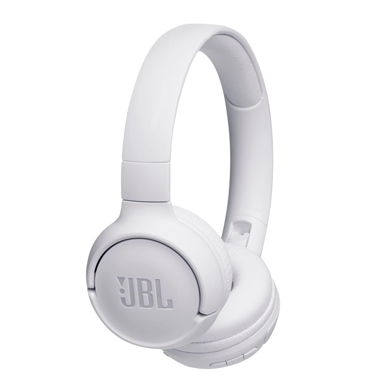 Casti audio On-Ear JBL Tune 500BT, Wireless, Bluetooth, Pure Bass Sound, Hands-free Call, 16H, White