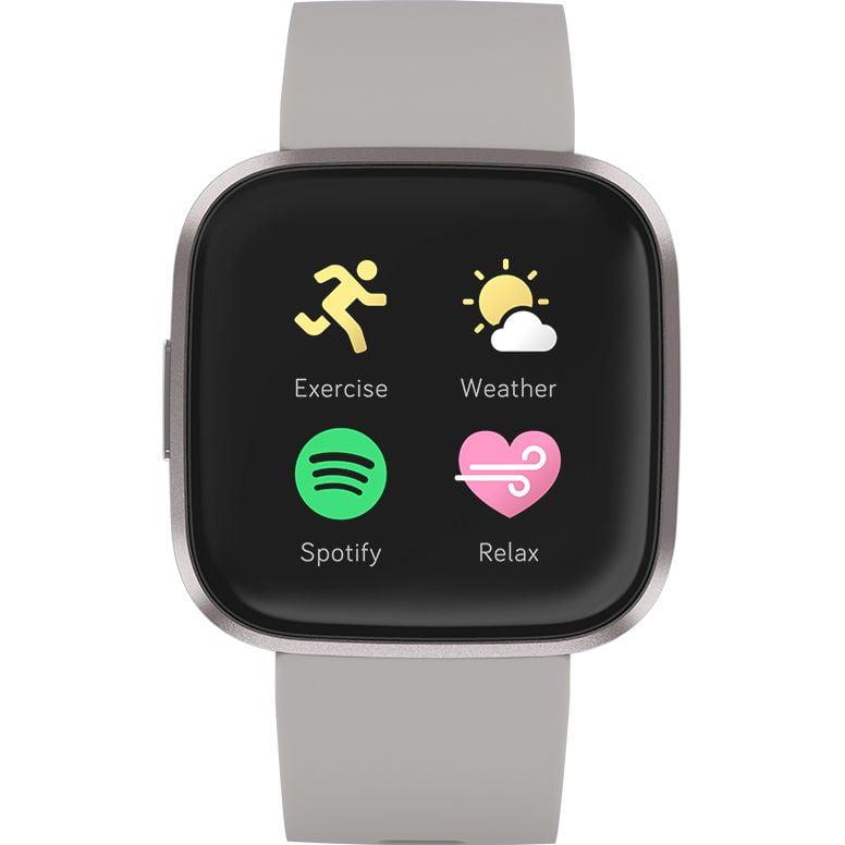 Ceas Smartwatch Fitbit Versa 2, NFC, HR, Silicon, Mist Grey Aluminum, Curea Grey