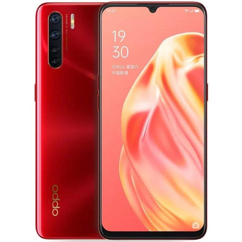 Telefon mobil Oppo A91, Dual SIM, 128GB, 8GB RAM, 4G, Red