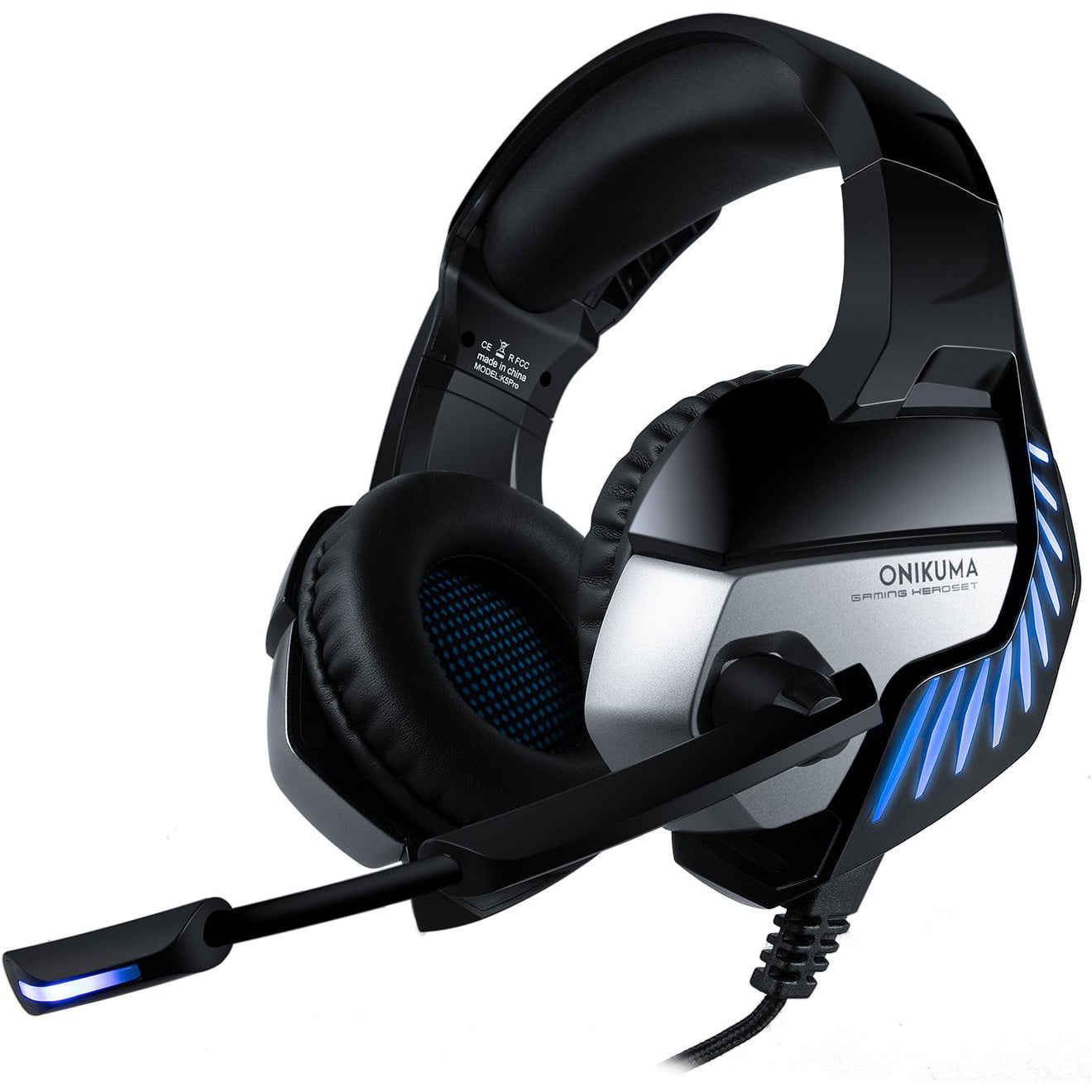 Casti audio Over-Ear Onikuma K5 Pro, Gaming, Surround Sound 7.1, Blue