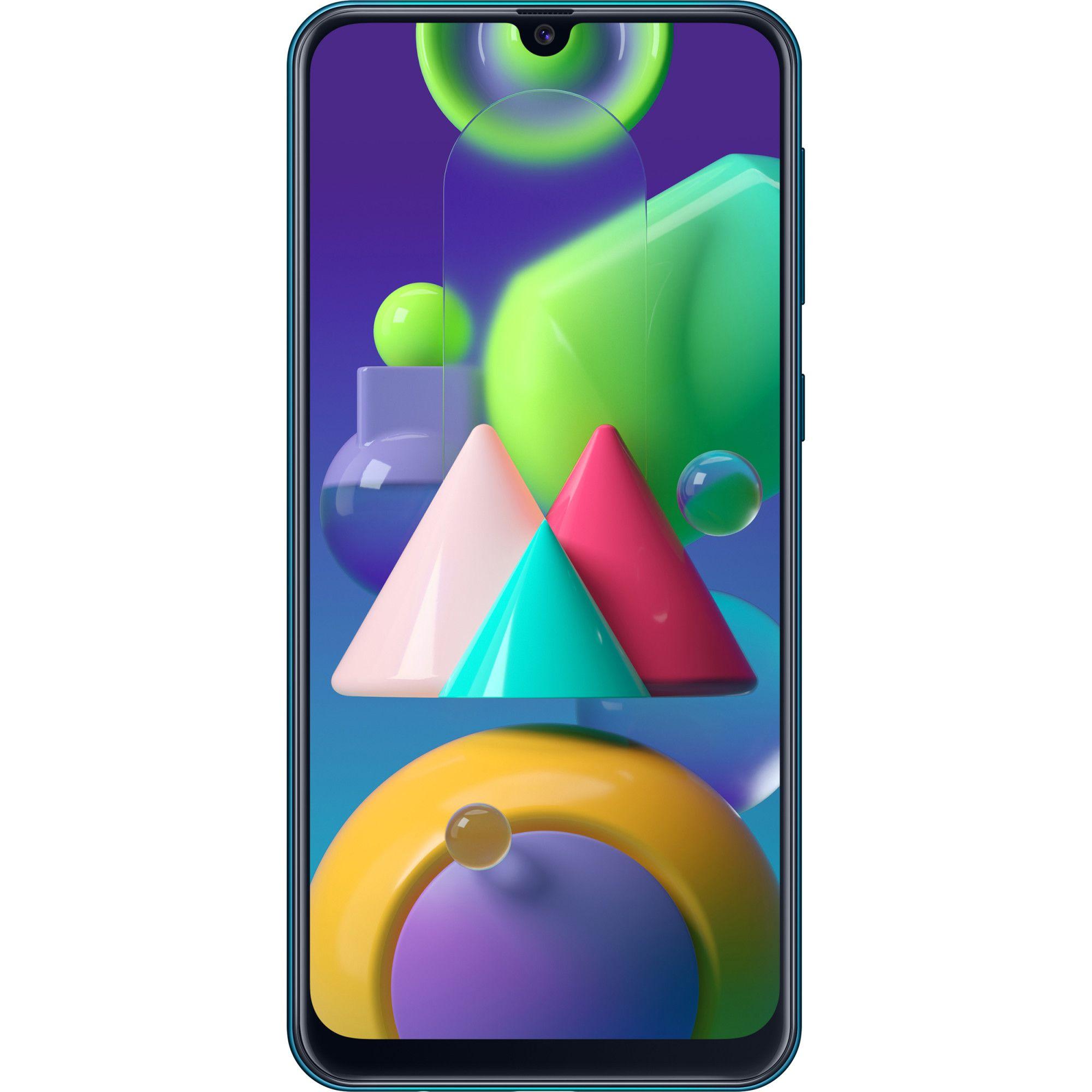 Telefon mobil Samsung Galaxy M21, Dual SIM, 64GB, 4GB RAM, 4G, Green