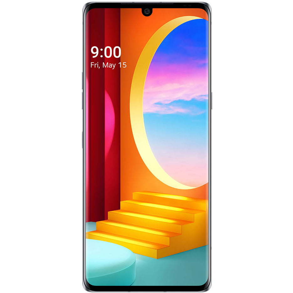 Telefon mobil LG Velvet, Dual SIM, 128GB, 6GB RAM, 5G, Aurora Gray