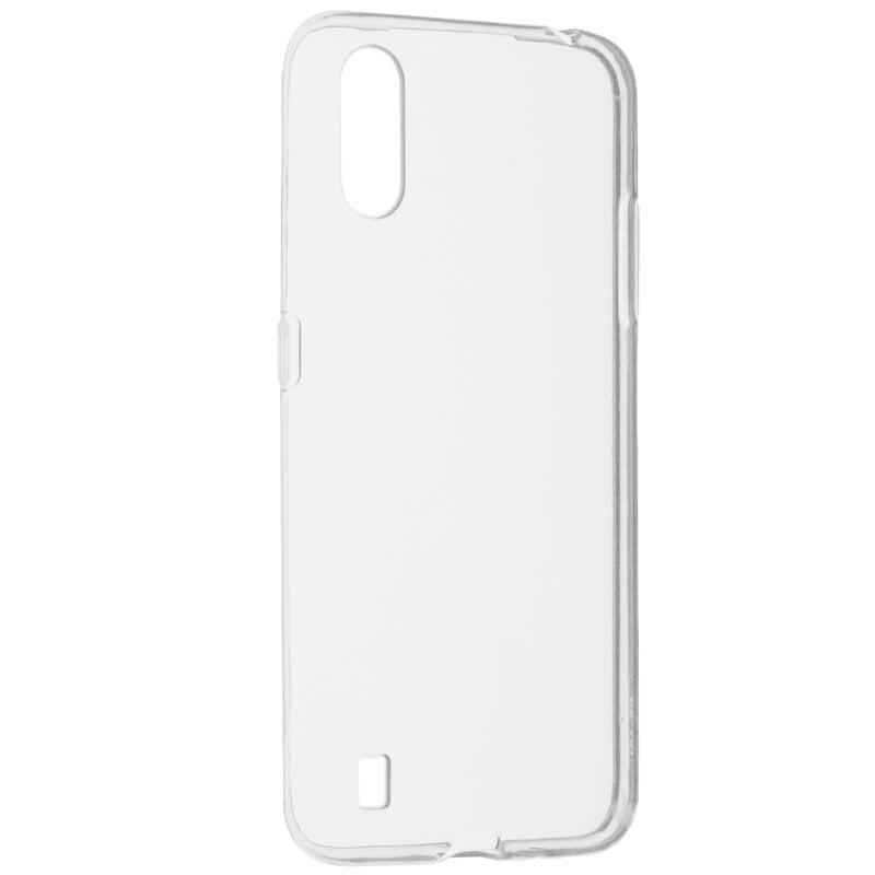 Husa silicon pentru Samsung Galaxy A01, Clear Case, Transparent