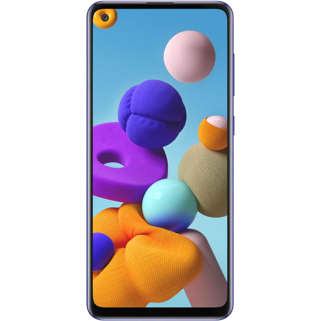 Telefon mobil Samsung Galaxy A21s, A217, Dual SIM, 64GB, 4GB RAM, 4G, Blue