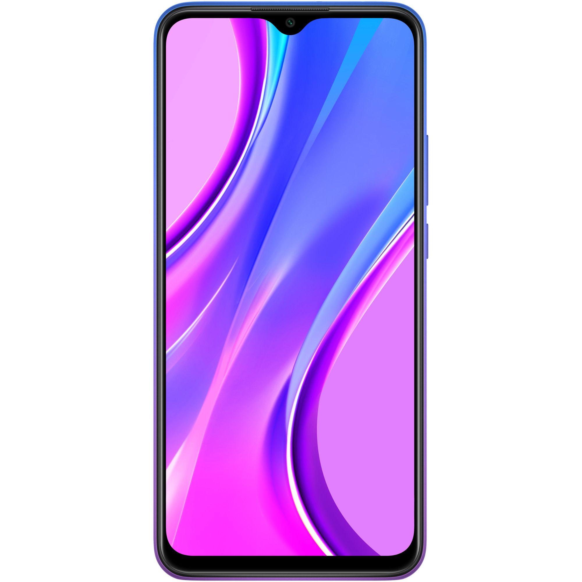 Telefon mobil Xiaomi Redmi 9, Dual SIM, 64GB, 4GB RAM, 4G, Sunset Purple