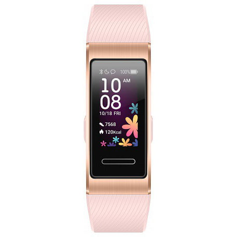 Bratara fitness Huawei Band 4 Pro, HR, Silicon, Sport Band Pink Gold