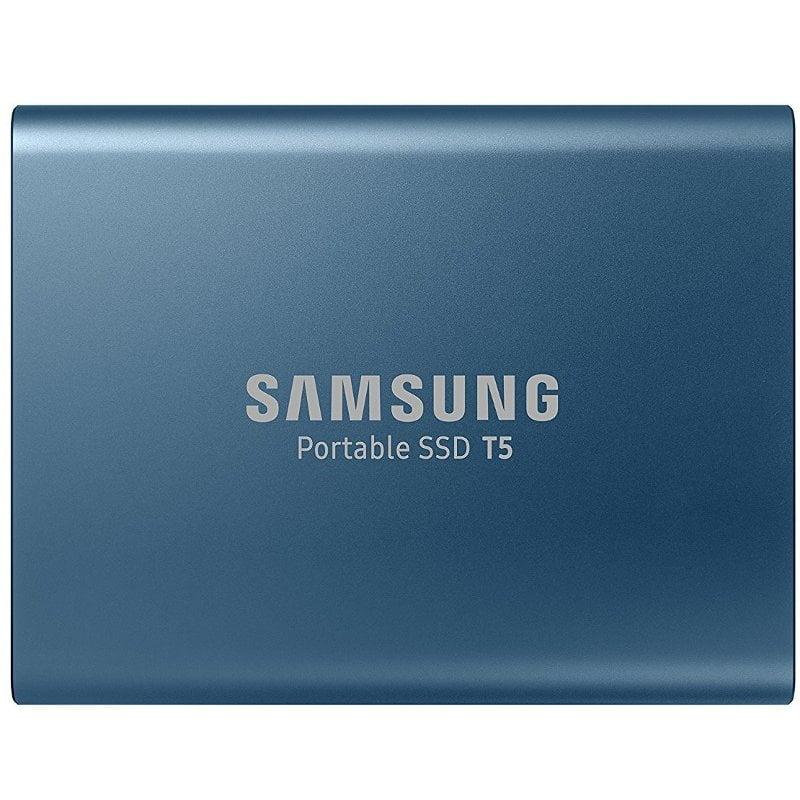 SSD extern portabil Samsung T5, MU-PA250B, 250GB, USB 3.1, Securizare Parola, Blue