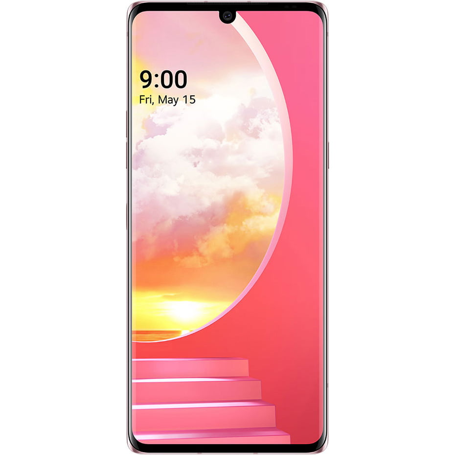 Telefon mobil LG Velvet, Single SIM, 128GB, 6GB RAM, 5G, Illusion Sunset