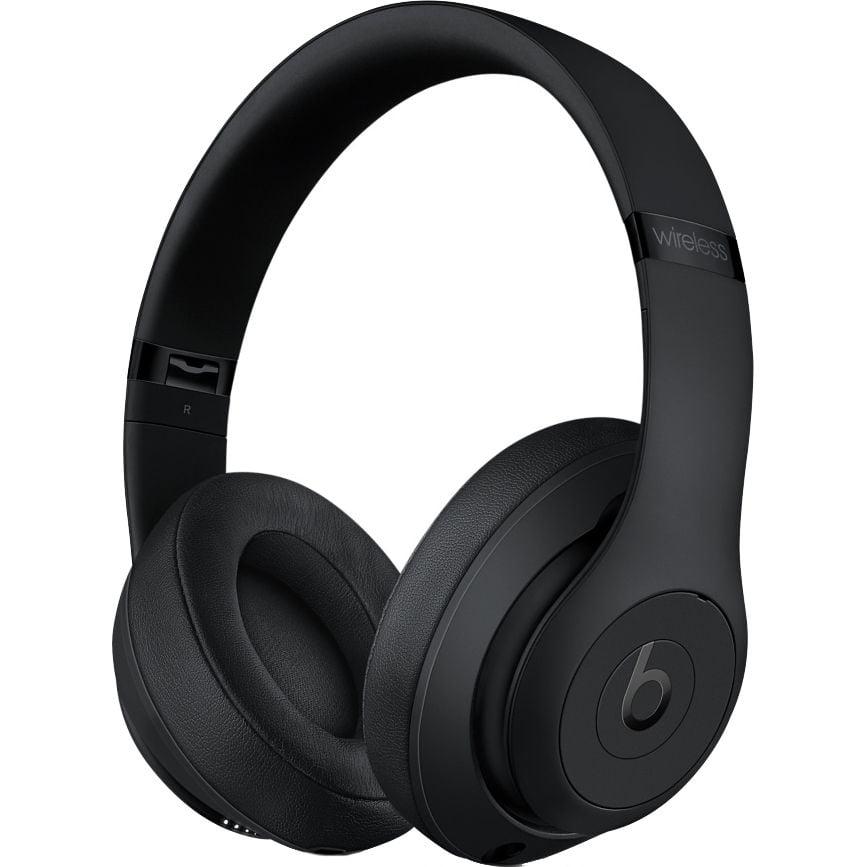 Casti audio On-Ear Beats Studio 3, Wireless, Noise Cancelling, Matte Black