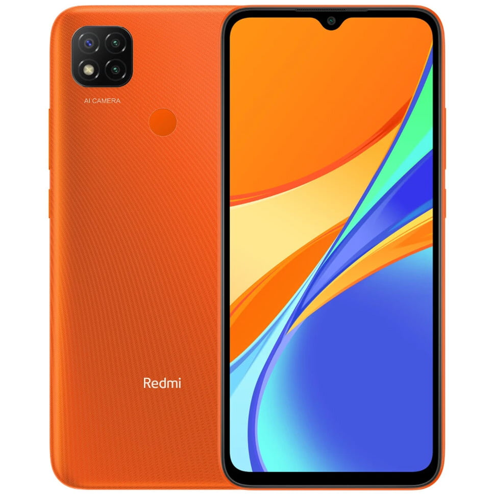Telefon mobil Xiaomi Redmi 9C, Dual SIM, 32GB, 2GB RAM, 4G, Sunrise Orange