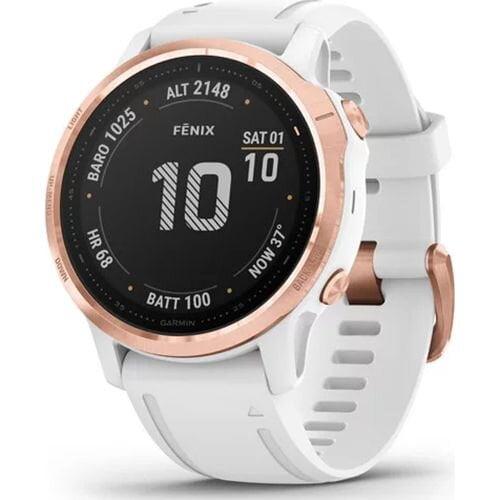 Ceas Smartwatch Garmin Fenix 6S Pro, 42 mm, HR, GPS, Rose/ Gold, White